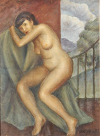 seated nude by clyde singer