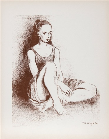 seated dancer 2 by moses soyer