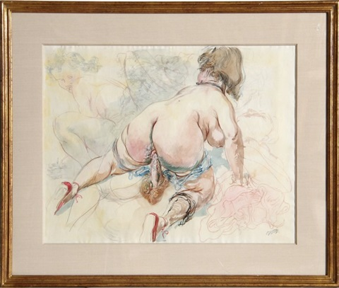 untitled nude by george grosz