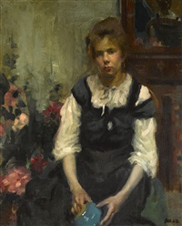 portrait of a girl by martha walter