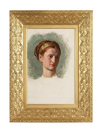 portrait of miss isabella waugh (study) by william holman hunt