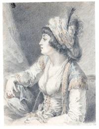 the valide, the sultan's mother by augustin de saint-aubin