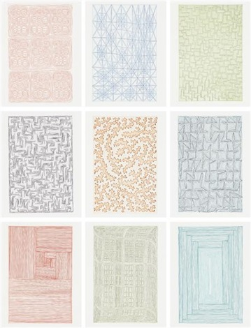 nine prints portfolio set of 9 by james siena