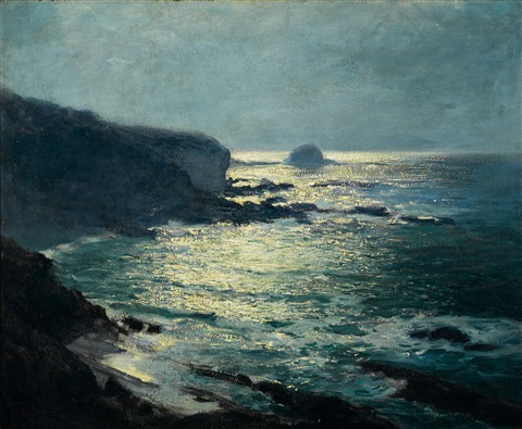 moonlight arch beach laguna by guy rose