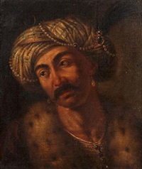 portrait of a man in turkish costume by gaetano lapis