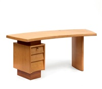 bureau plateau légèrement cintré by pierre jeanneret