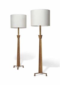 floor lamps (pair) by paul dupré-lafon