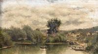 les bateaux sur la seine by stanislas lépine
