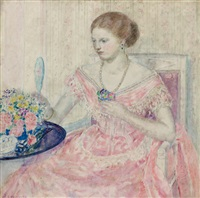 the rose gown by frederick carl frieseke