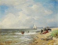 a coastal landscape by andreas achenbach