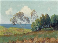 landscape with ocean by maurice braun