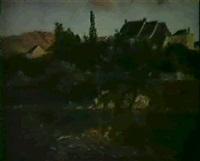 village du massif central by georges pierre louis serrier