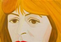 portrait of elaine de kooning by alex katz