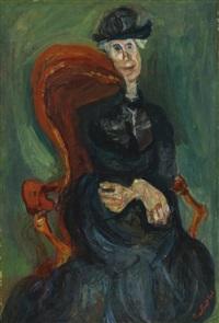 la vieille dame assise by chaïm soutine