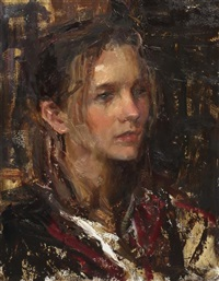 portrait of a young woman by dan gerhartz