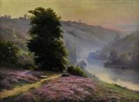 rivière en montagne by henri vincent anglade