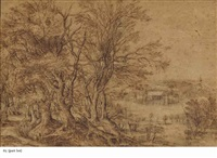 l'abbaye de groenendael, belgique; et le château de tervuren, belgique (2 works) by denis van alsloot