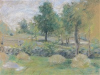 springtime, connecticut by julian alden weir