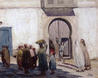 scène de rue en tunisie by antoine figay