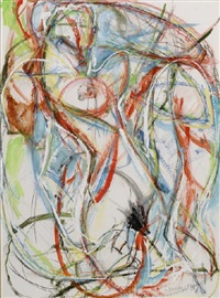 nude (+ goddess, lrgr; 2 works) by paul de lussanet