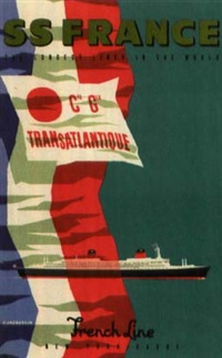 s.s. france / french line by jean jacquelin