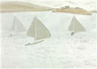 grey sails by milton avery