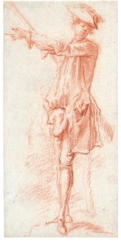 a hunter (study) by jacques-andré portail