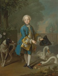 portrait of louis philippe joseph, duc d'orleans and duc de chartres by louis tocqué