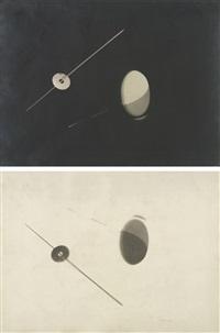 negative/positive photogram pair by lászló moholy-nagy