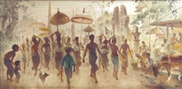balinese procession by lee man fong