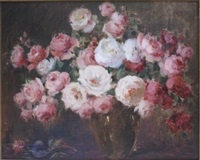 still life of roses by carle john blenner