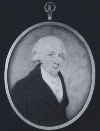 harbord harbord, baron suffield of suffield, wearing brown coat, white waistcoat and frilled cravat, his hair powdered by edward miles