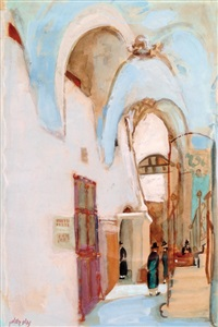 praying in the synagogue by nachum gutman