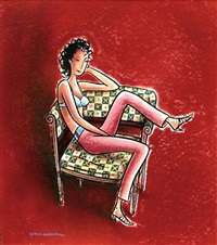 une femme assise sur un fauteuil by charles berberian and philippe dupuy