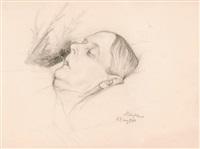 artist's mother by albert edelfelt