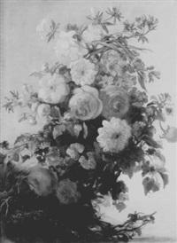 floral still life by iphigénie milet-mureau