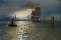 hamburger hafen by alfred jensen