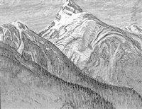 untitled - mountain peak by orville fisher