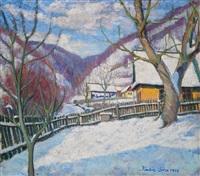 winter in felsőbánya by géza kádár