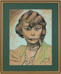 portrait of maria suchon by stanislaw ignacy witkiewicz