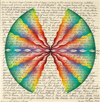 ruth and arlene (drawing from compressed women who yearned to be butterflies ) by judy chicago