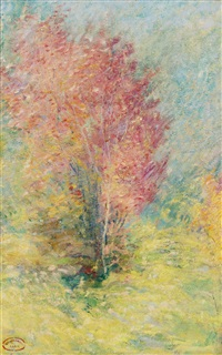 the red maple by john henry twachtman