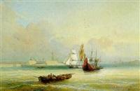 bateaux à l'entrée du port by louis gabe