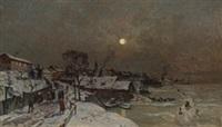vinter ved fjorden by gerhard peter franz vilhelm munthe