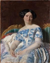 portrait d'élégante dans un sofa by alexandre cabanel
