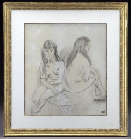 deux modeles assises by jules pascin