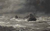 the relief convoys fight the winter gales off malta by montague dawson