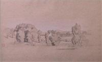 classical landscape by jean achille bénouville