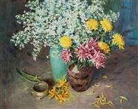 flowers by liu guoshu