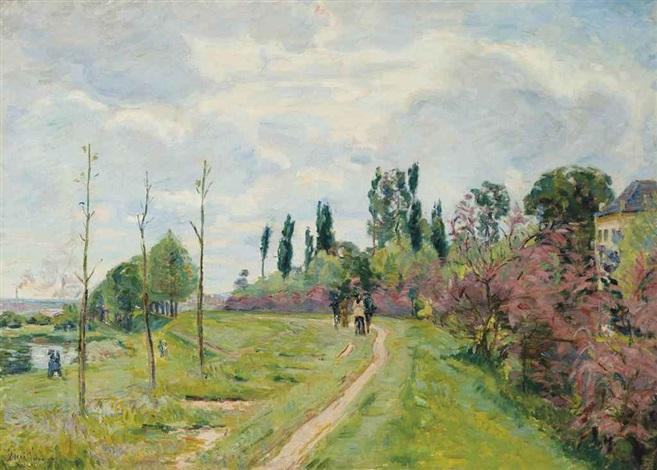 paysage de lile de france by armand guillaumin
